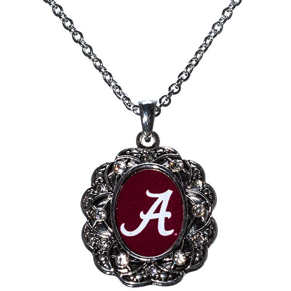 Alabama Rhinestone Oval Necklace