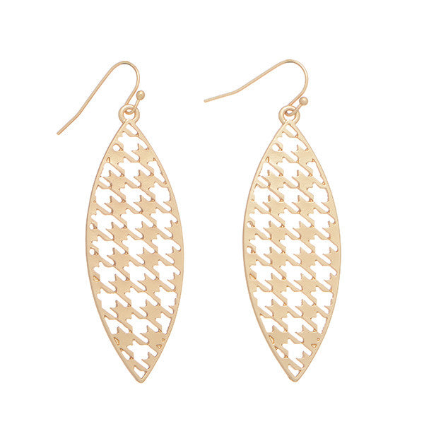 Gold Houndstooth Mesh Earrings