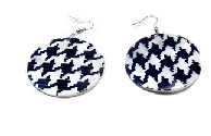 Houndstooth Shell earrings