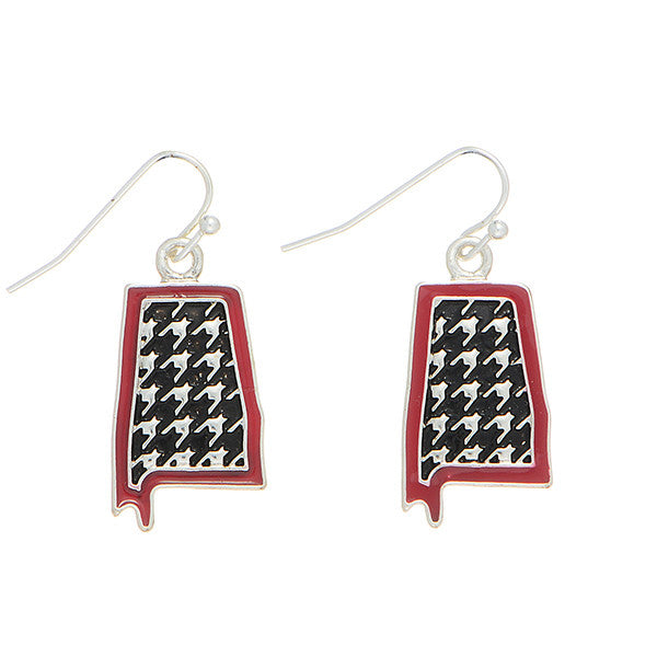 Houndstooth State Earrings