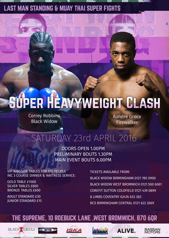 Last Man Standing Super Heavyweight Clash Dre Groce vs Corey Robbins
