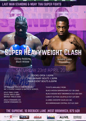 Super Heavyweight Clash Dre Groce vs Corey Robbins