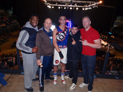 Fierce Edge All Star Ben Whittaker with Firewalker Olympic Boxing Club Dre Groce Joby clayton Kerrith Bhella Kevin Blower