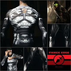 Fierce Edge Cyborg Compression Shirt Rash Guard Tights Spats  Dre Groce
