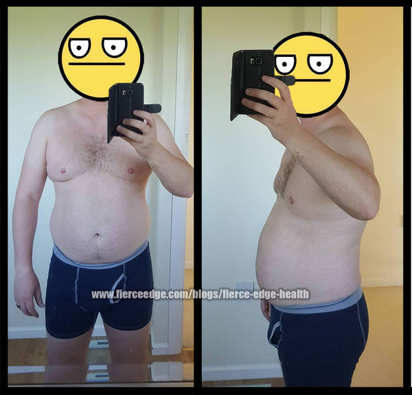 Fierce Edge Health Fitness Free Beginner Weight Loss Fat Burn Guaranteed Results Program Before Picture