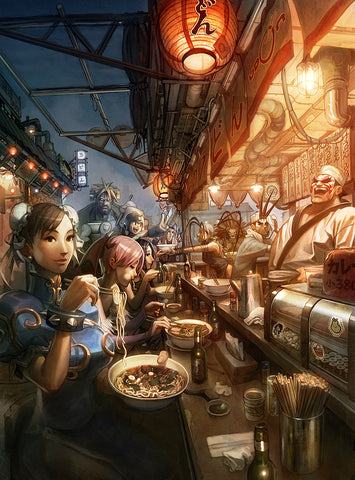 Chef E Honda Noodle Bar Chun-Li Street Fighter 2