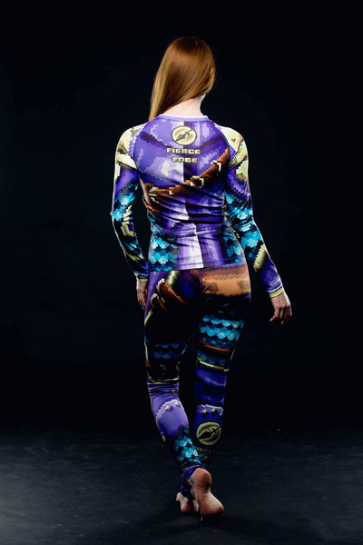 Motorbike Pixel Paladin Retro 8bit Armour Fightwear Activewear Baselayer