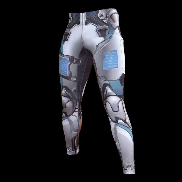 Mens MMA Muay Thai BJJ Motorbike Bounty Hunter Power Armour Armor Spats Activewear Baselayer