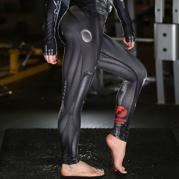 Ladies MMA Muay Thai BJJ Cyborg Armour Armor Leggings Fightwear Activewear Baselayer