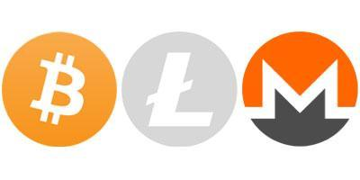 Bitcoin Litecoin Monero Cryptocurrency Accepted Here