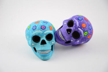 Set of Two - One of a kind Hand Made Mexican Calaveras
