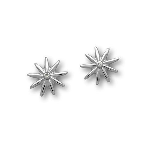 Daisy Silver Earrings CE434 Cubic Zirconia