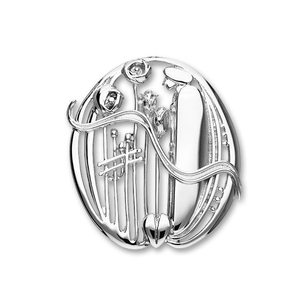 Charles Rennie Mackintosh Silver Brooch B348
