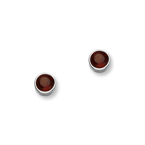 January Birthstone Silver Earrings CE350 Garnet