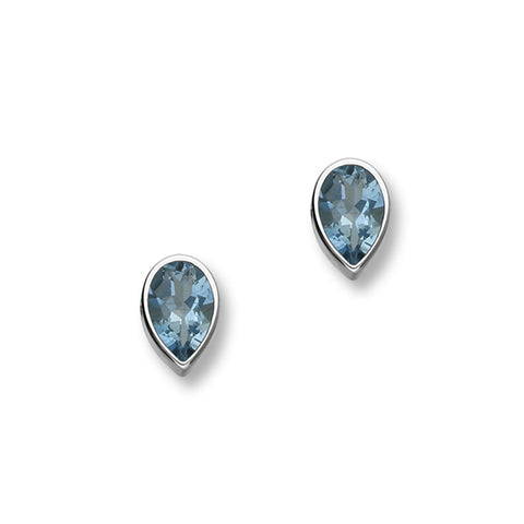 March Birthstone Silver Earrings CE354 Aquamarine