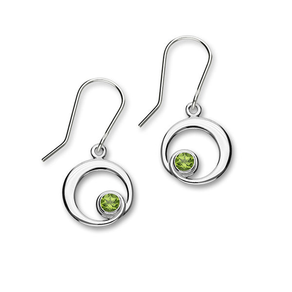 August Birthstone Silver Earrings CE361 Peridot