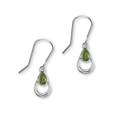 August Birthstone Silver Earrings CE408 Peridot