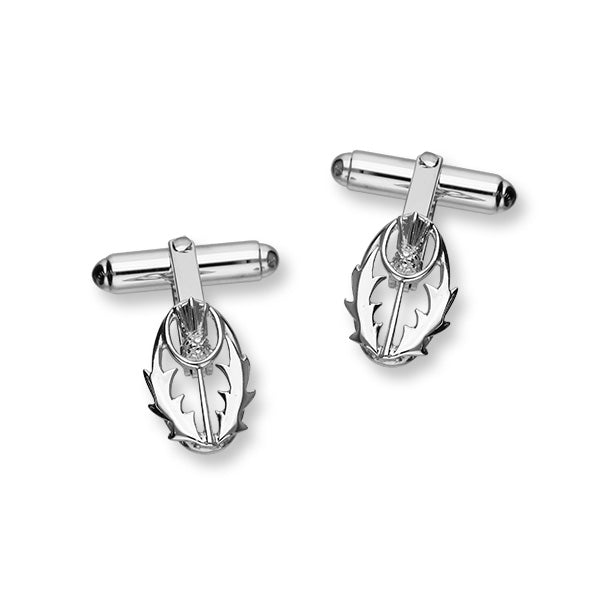 Thistle Silver Cufflinks CL108