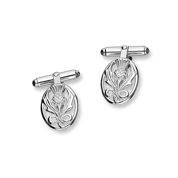 Thistle Silver Cufflinks CL127