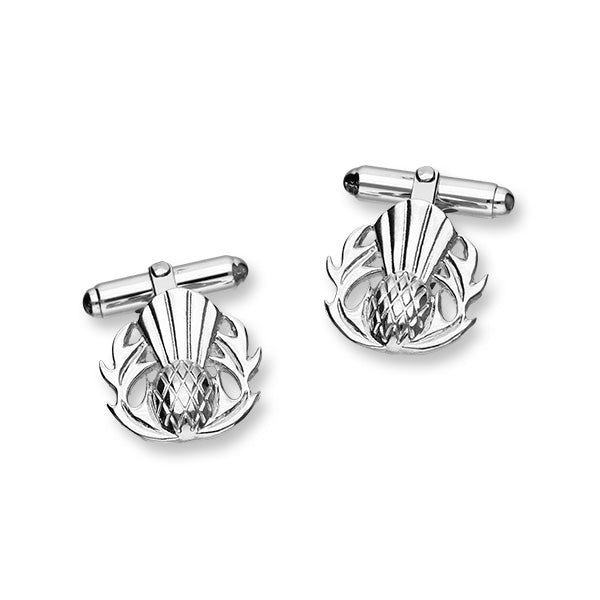 Thistle Silver Cufflinks CL183