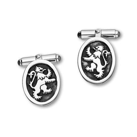 Lion Rampant Silver Cufflinks CL26