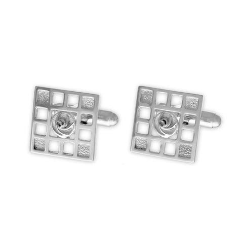 Charles Rennie Mackintosh Silver Cufflinks CL92