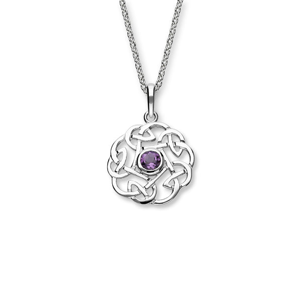 Celtic Silver Pendant CP11 Amethyst