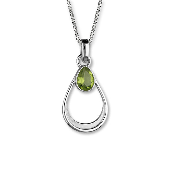 August Birthstone Silver Pendant CP335 Peridot