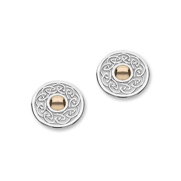 Cuillin Silver/9ct Rose Gold Earrings E1055