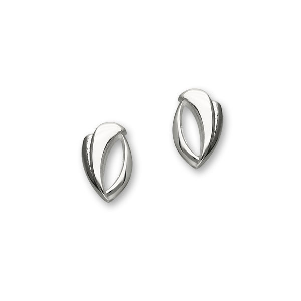Trendy Twirls Silver Earrings E1093
