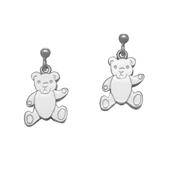 Teddy Bear Silver Earrings E116