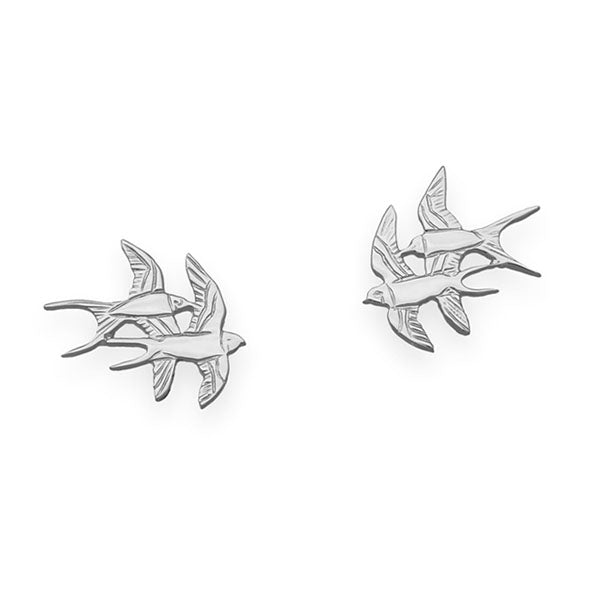 Nature In Flight Silver Earrings E123