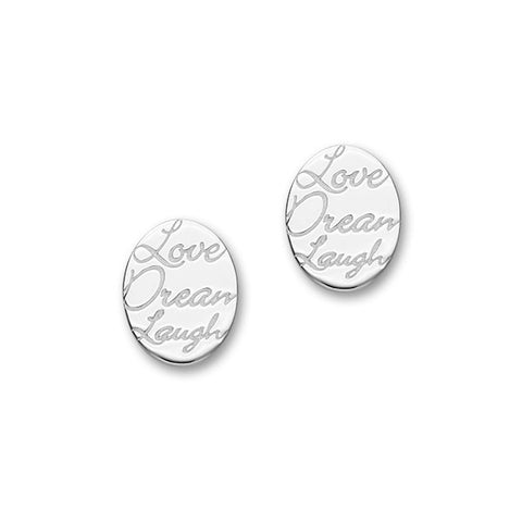 Script Silver Earrings E1466