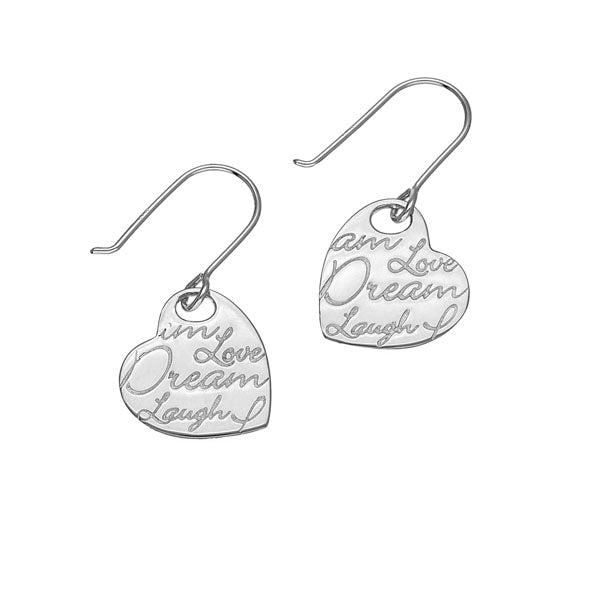 Script Silver Earrings E1471