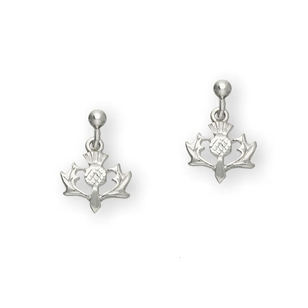 Thistle Silver Earrings E150