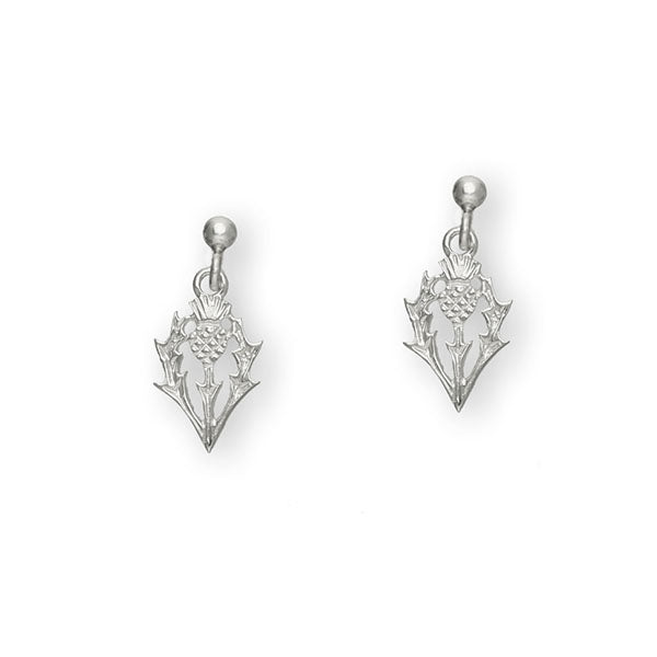 Thistle Silver Earrings E159
