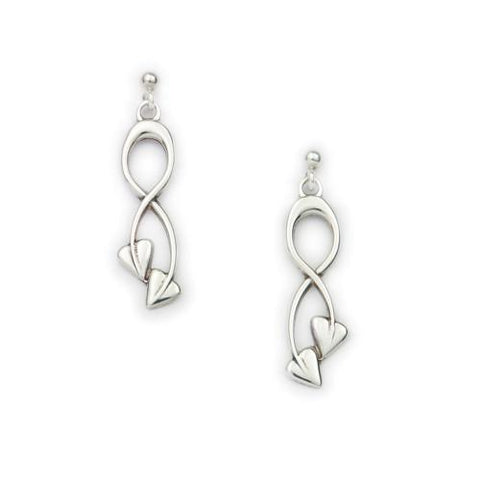 Archibald Knox Silver Earrings E1603