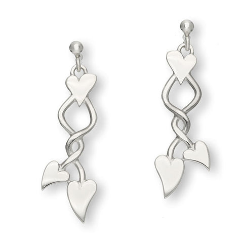 Hearts Silver Earrings E1781
