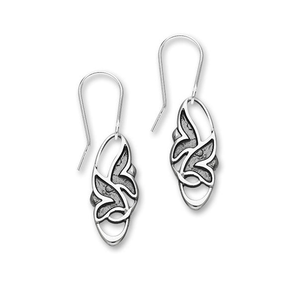 Trendy Twirls Silver Earrings E1807