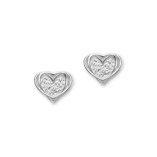 Hearts Sterling Silver Stud Earrings, E1812