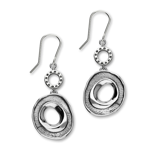 Maeshowe Sterling Silver Single Double Drop Earrings HIS E1826