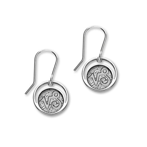 Zodiac Silver Earrings E1839 Capricorn