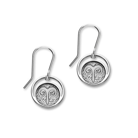 Zodiac Silver Earrings E1841 Aries