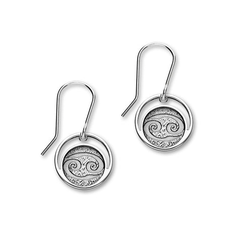 Zodiac Silver Earrings E1844 Cancer