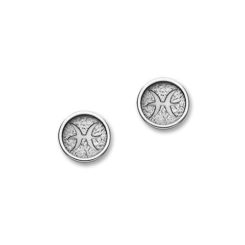 Zodiac Silver Earrings E1858 Pisces