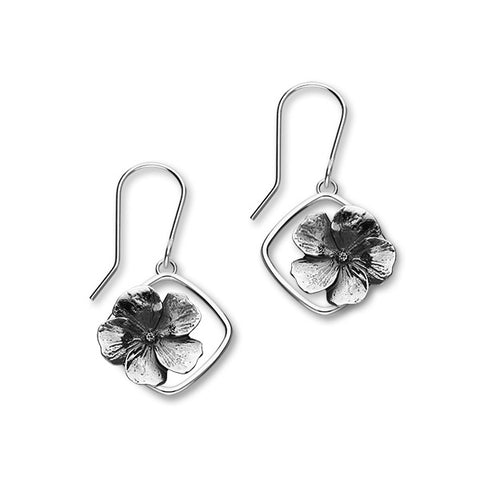 February Birth Flower Silver Earrings E1860