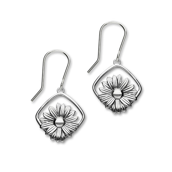 April Birth Flower Silver Earrings E1862