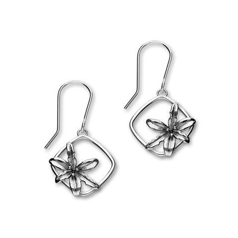 May Birth Flower Silver Earrings E1863