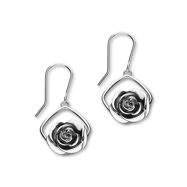 June Birth Flower Silver Earrings E1864