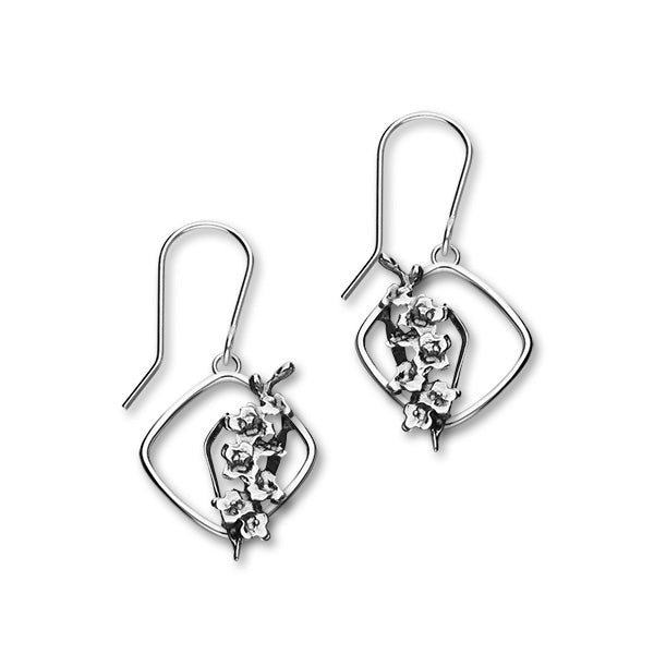 August Birth Flower Silver Earrings E1866